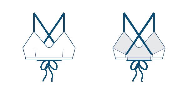 Namiko Drifter surf bikini top