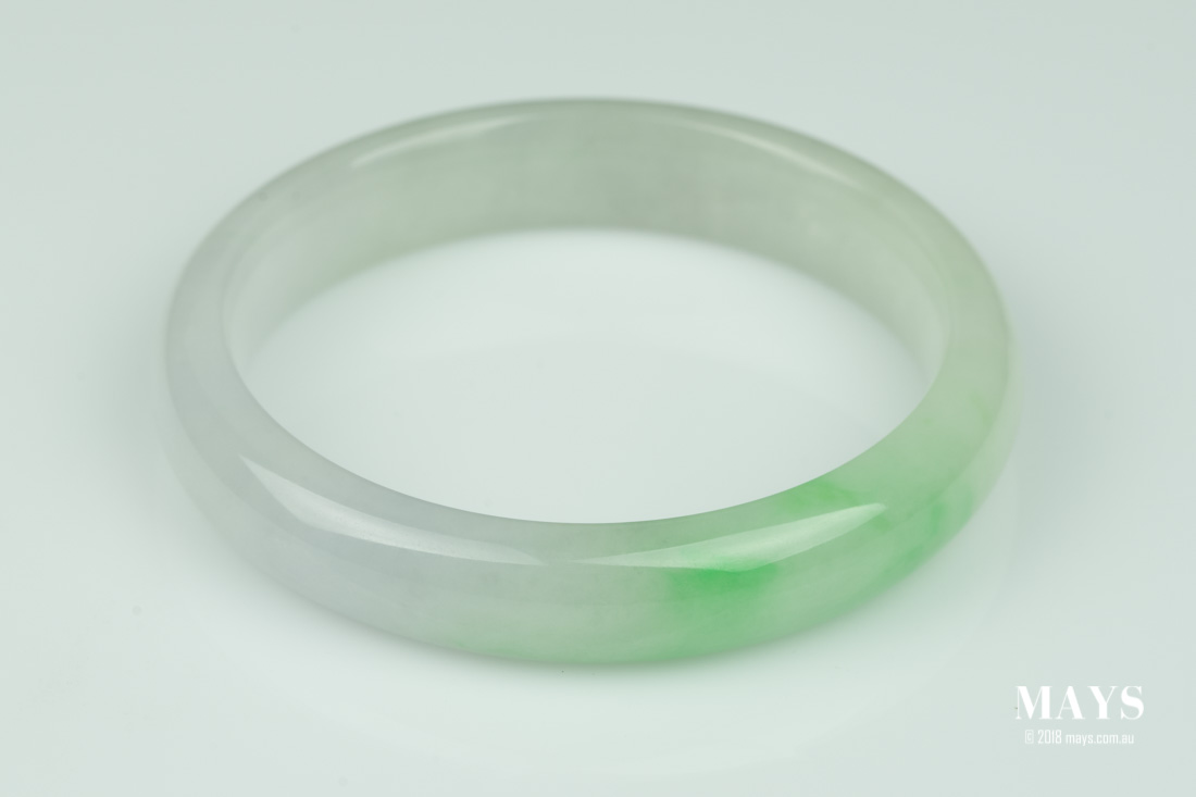 Typical appearance of a treated jade bangle