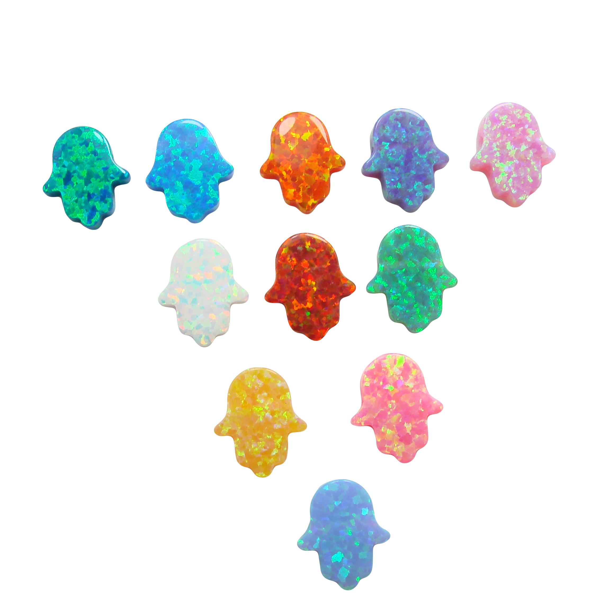 Opal Hamsa Charms