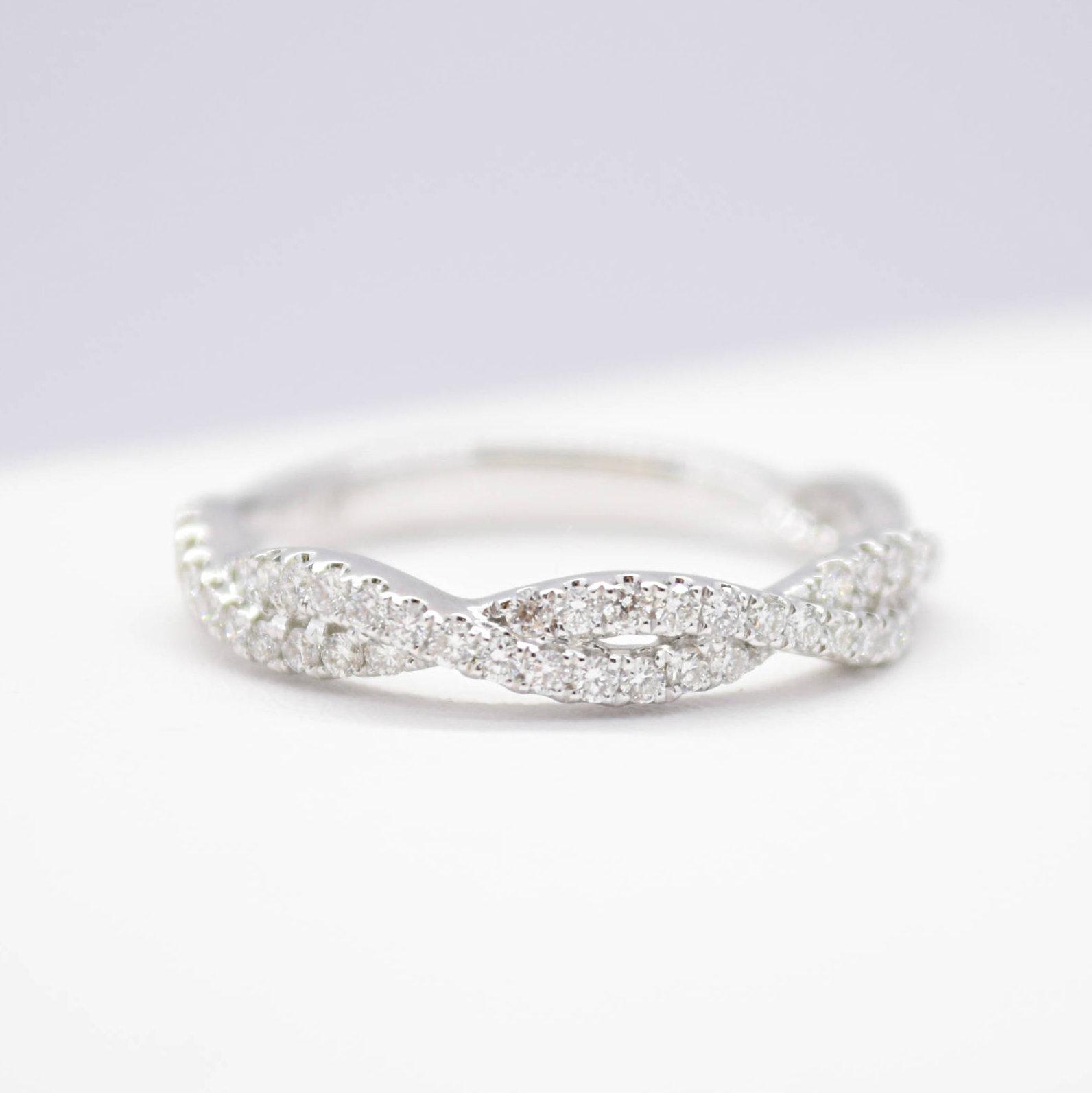 infinity diamond wedding band custom winnipeg