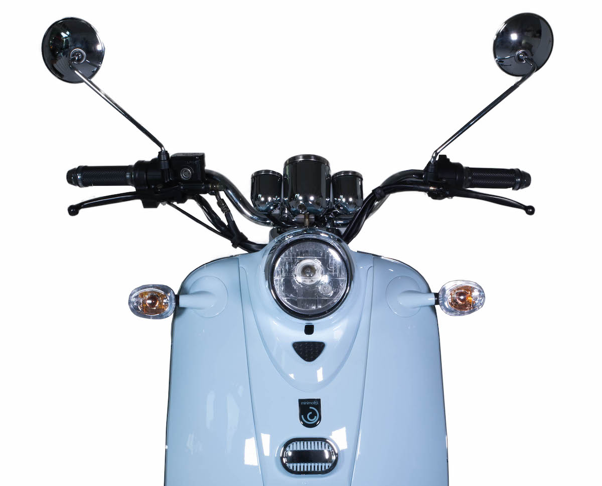 minimoto. E-Kolibri - Elektroroller - Detailansicht Front