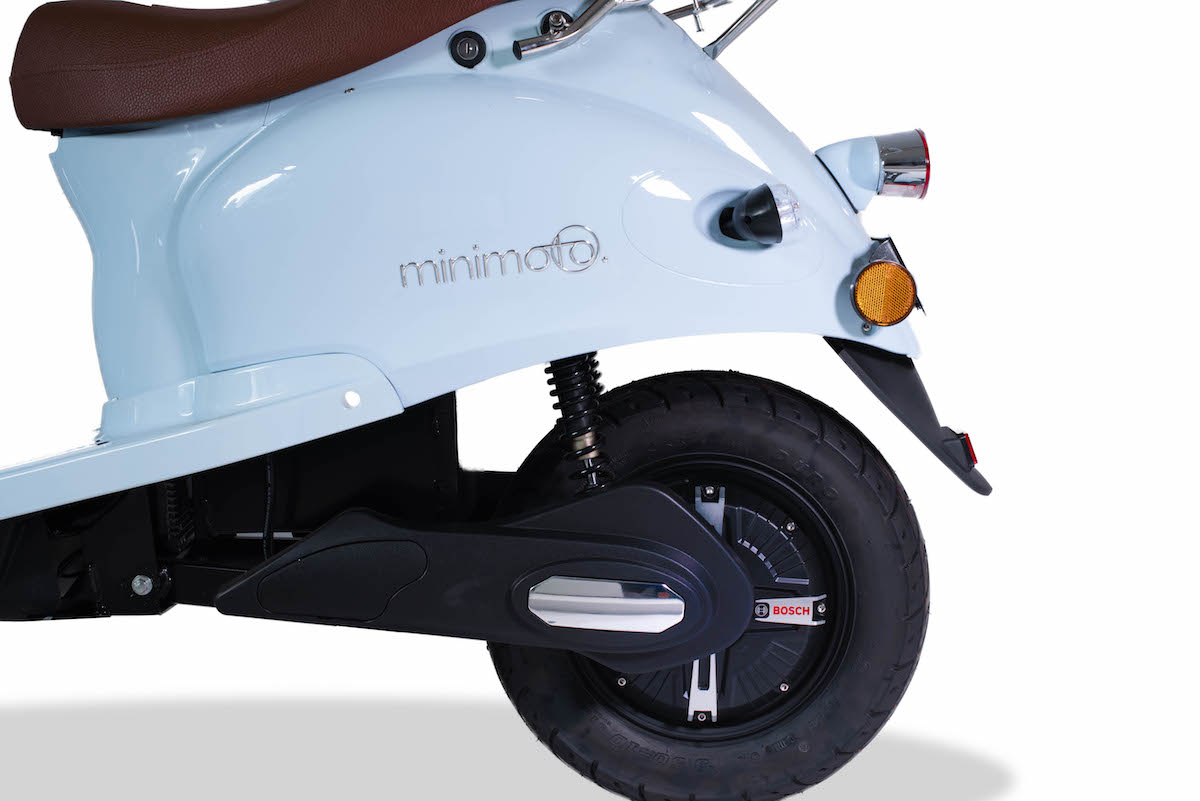 minimoto. E-Kolibri - Elektroroller - Detailansicht BOSCH-Motor