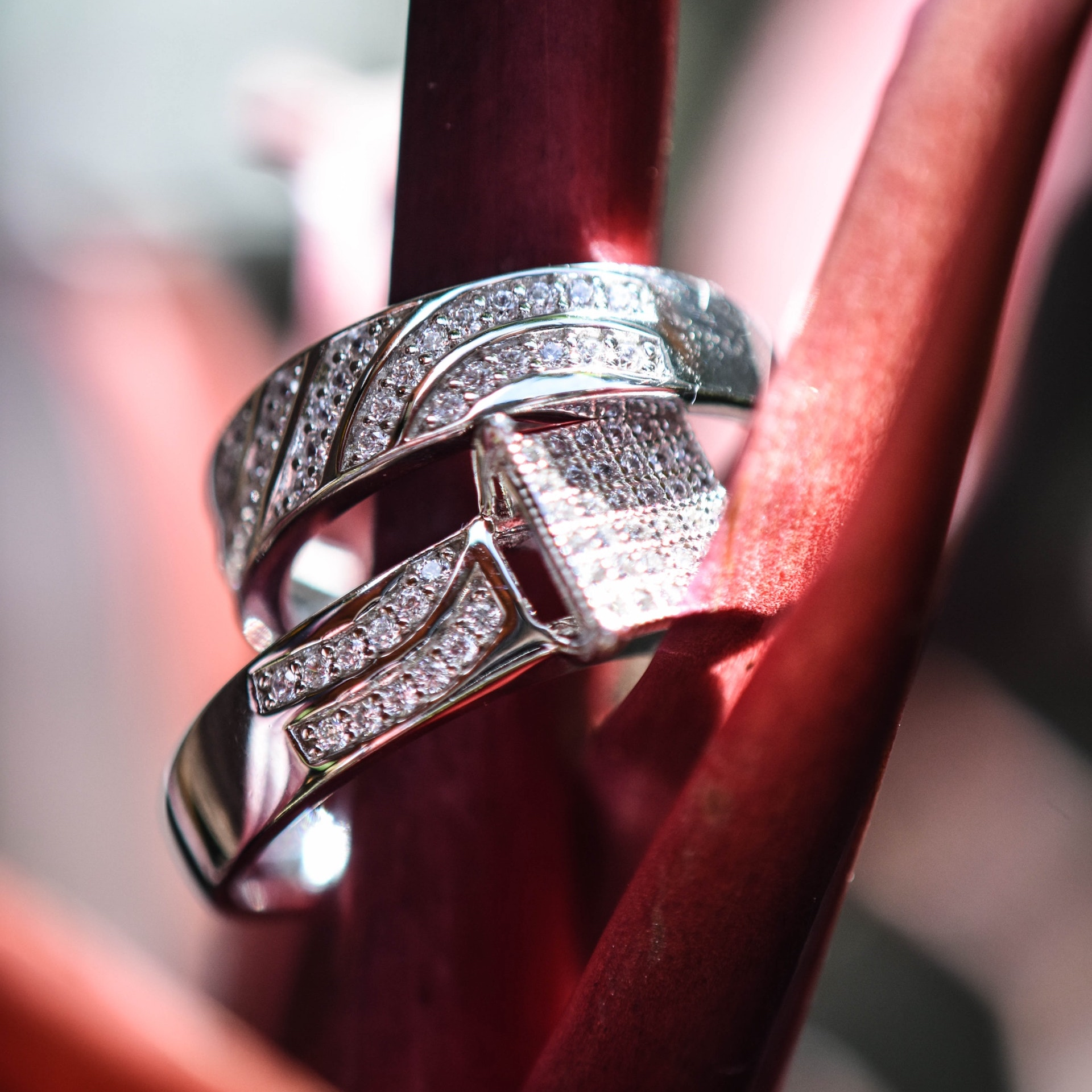 Engagement Ring with Matching Band