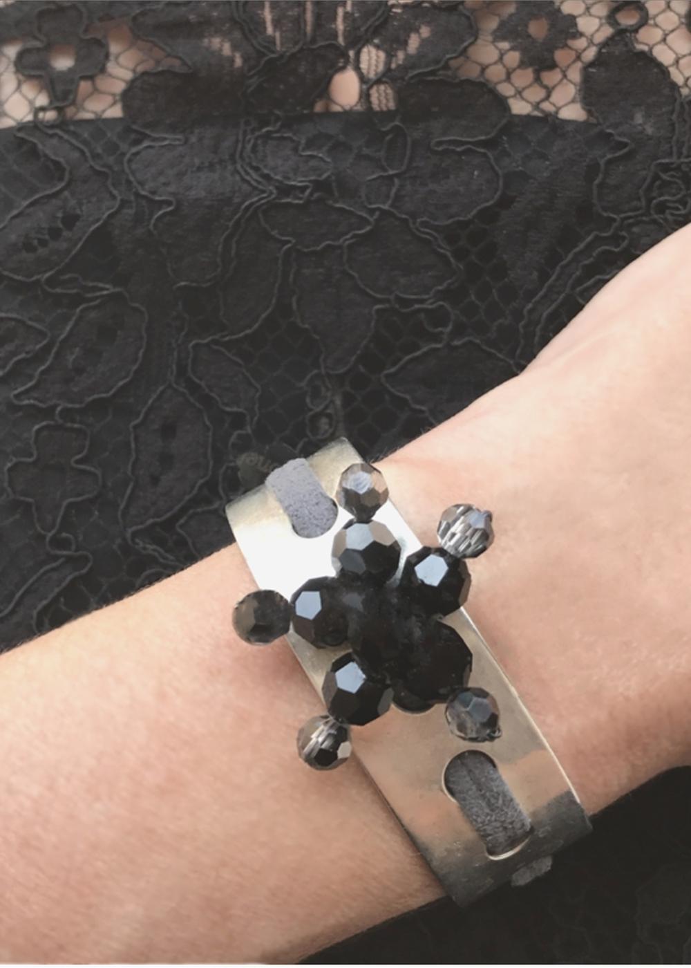 silver and swarovsky bracelet