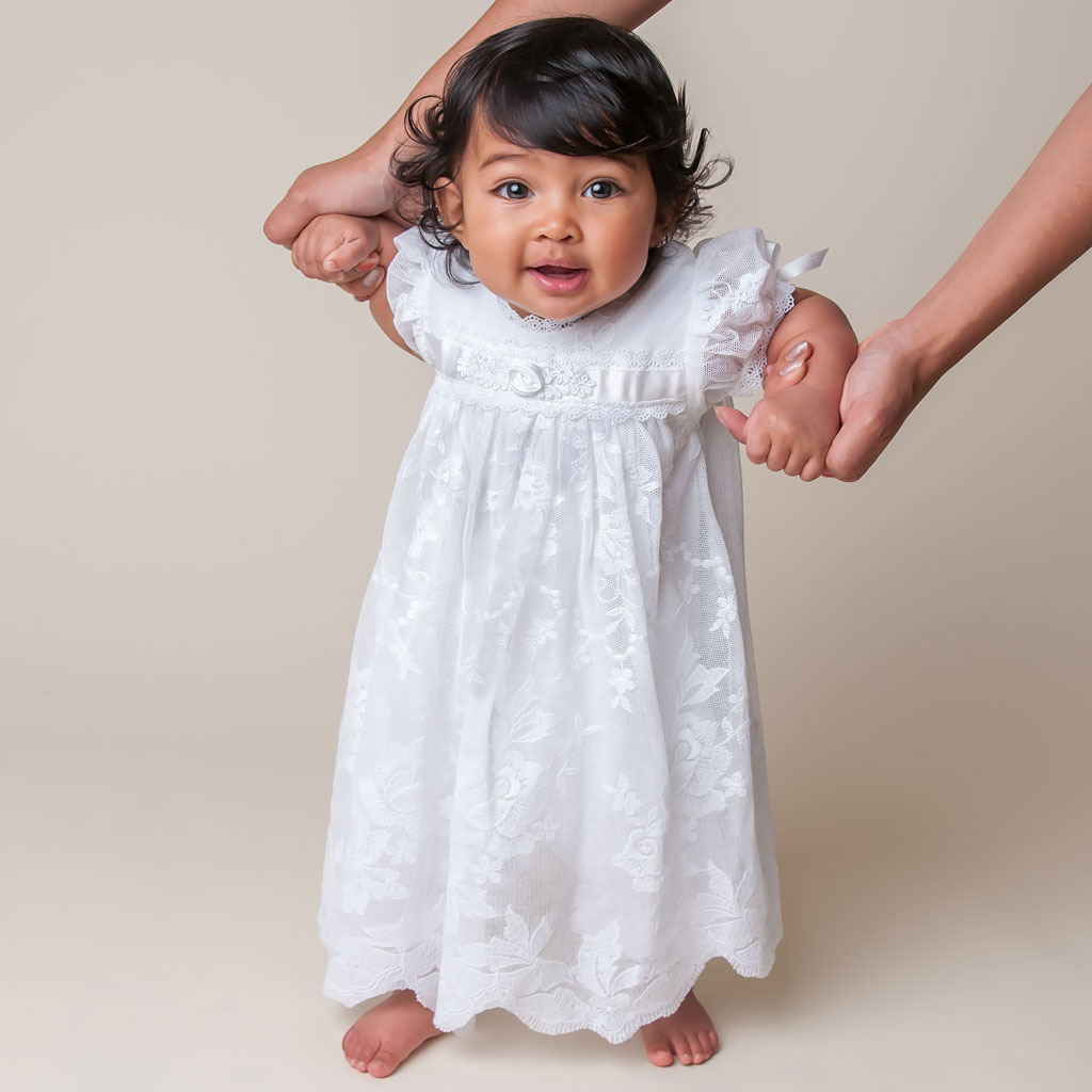 Louisa White Girls Christening Dress Collection