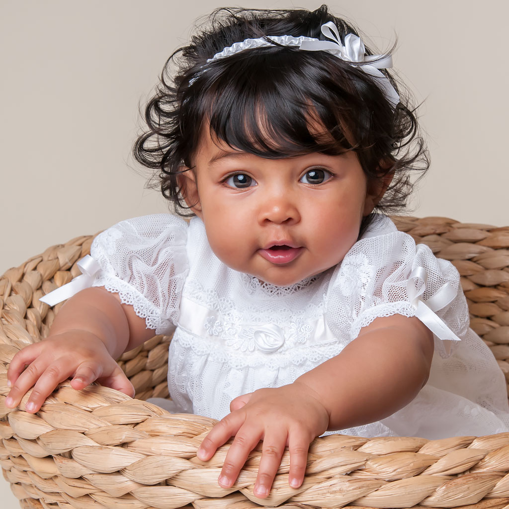 Louia White Girls Christening Dress Collection