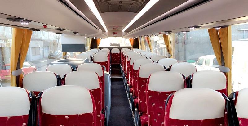 Interior of 49 Seat Coach