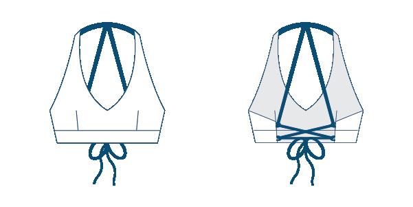 Namiko Explorer surf bikini top