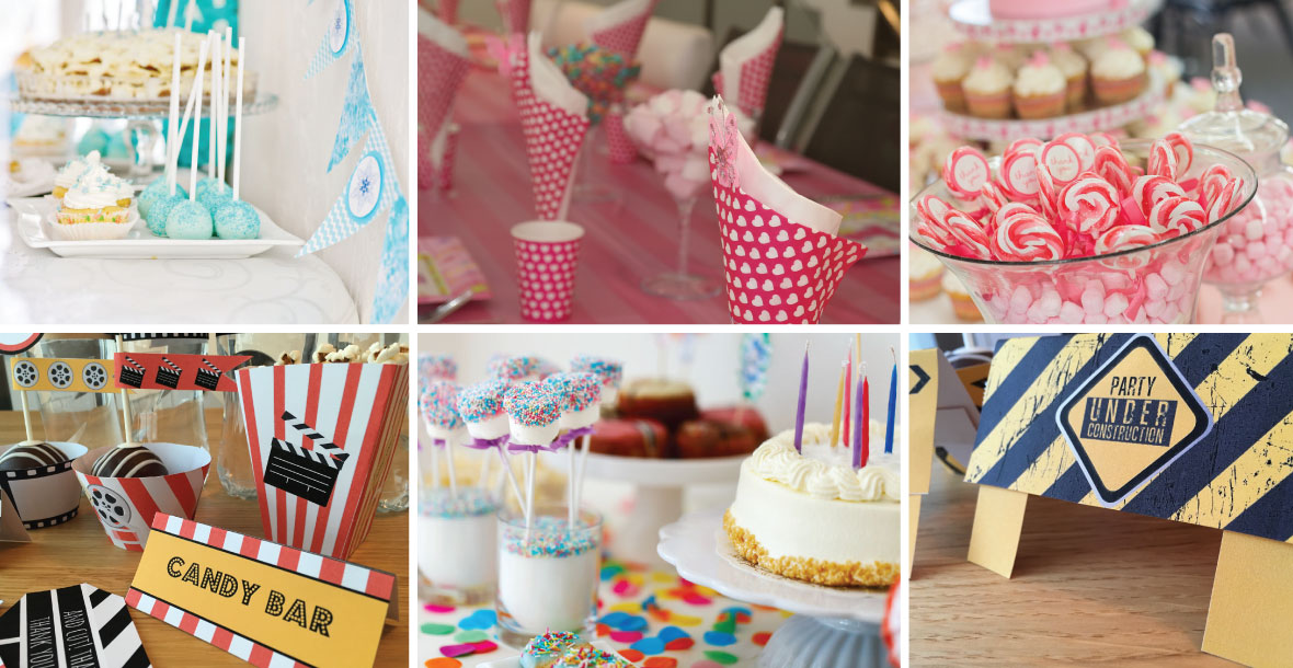 printable party decorations kids parties