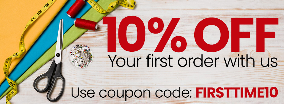10% Off your first order with us