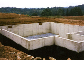 Foundation waterproofing with Dura-Rubber