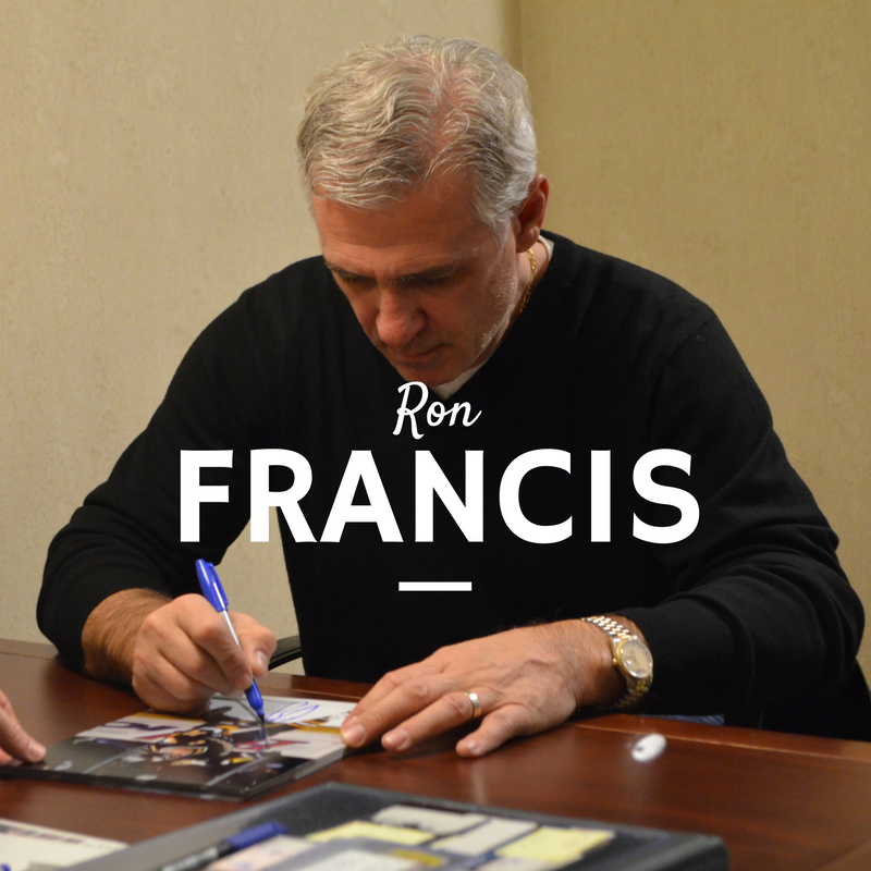 Ron Francis of the NHL Seattle team signing autographs at our private signing in Buffalo