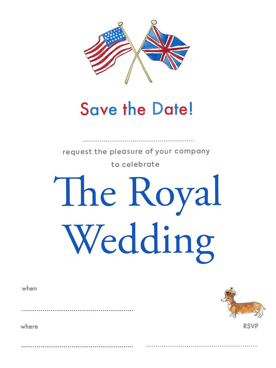 Free Royal Wedding Save the Date