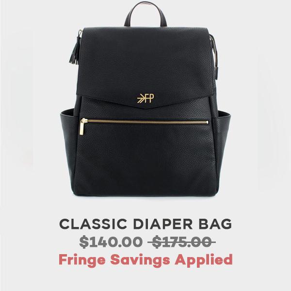 Ebony Classic Diaper Bag   Freshly Picked