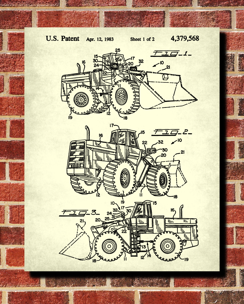 front loader patent