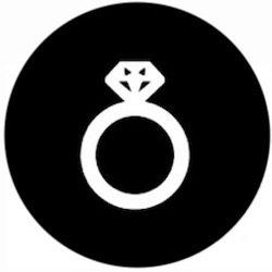 Gold and diamond Jewelry design icon