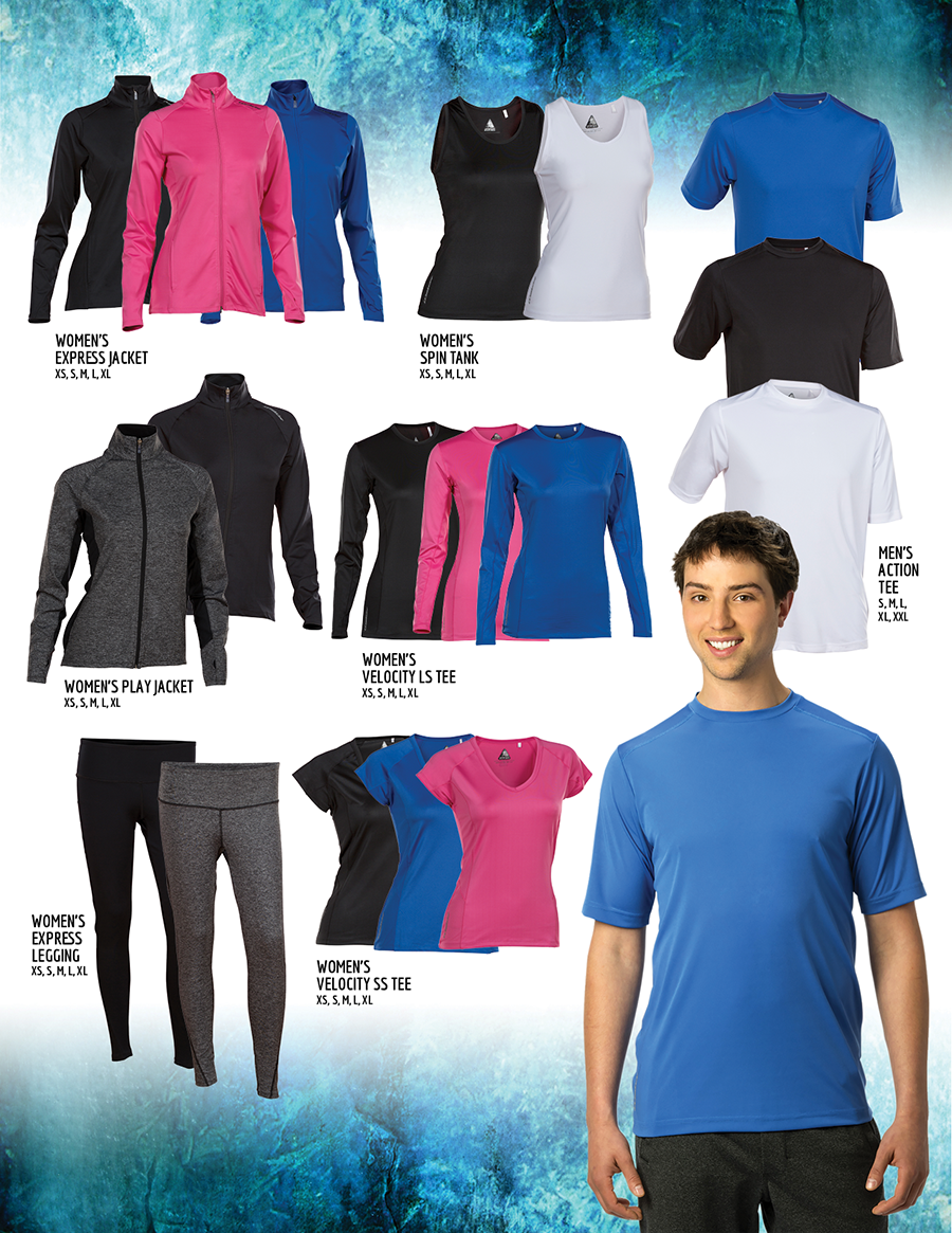 Jackson Gear jackets, tank tops, t-shirts, leggings