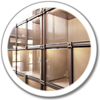 Glass Front Niches Icon Global Bronze