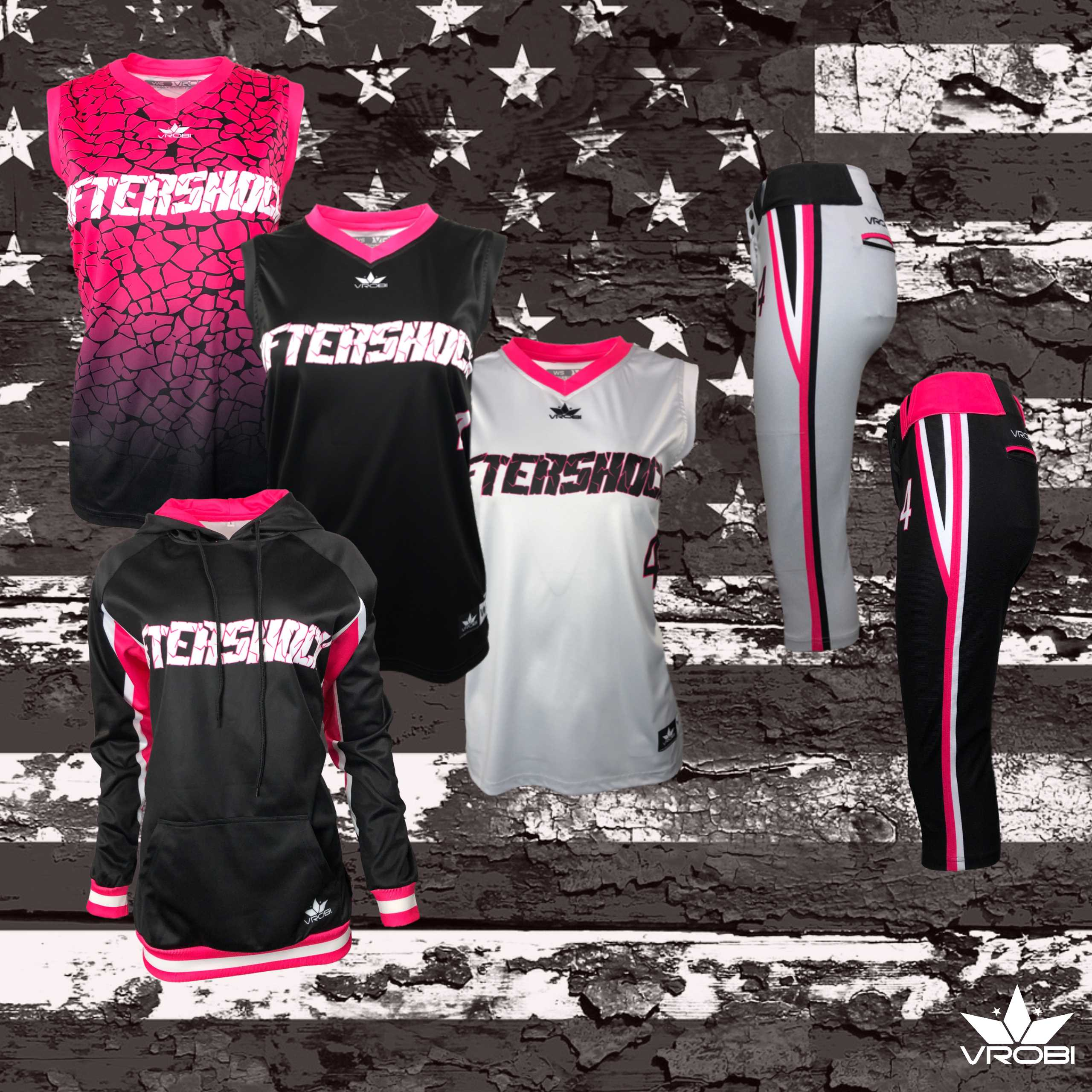 Gold Team Package for Softball Teams showing Fully Sublimated Uniforms