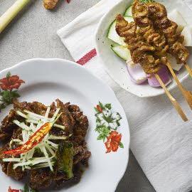 Grilled Beef Skewers & Saute Beef Skewers