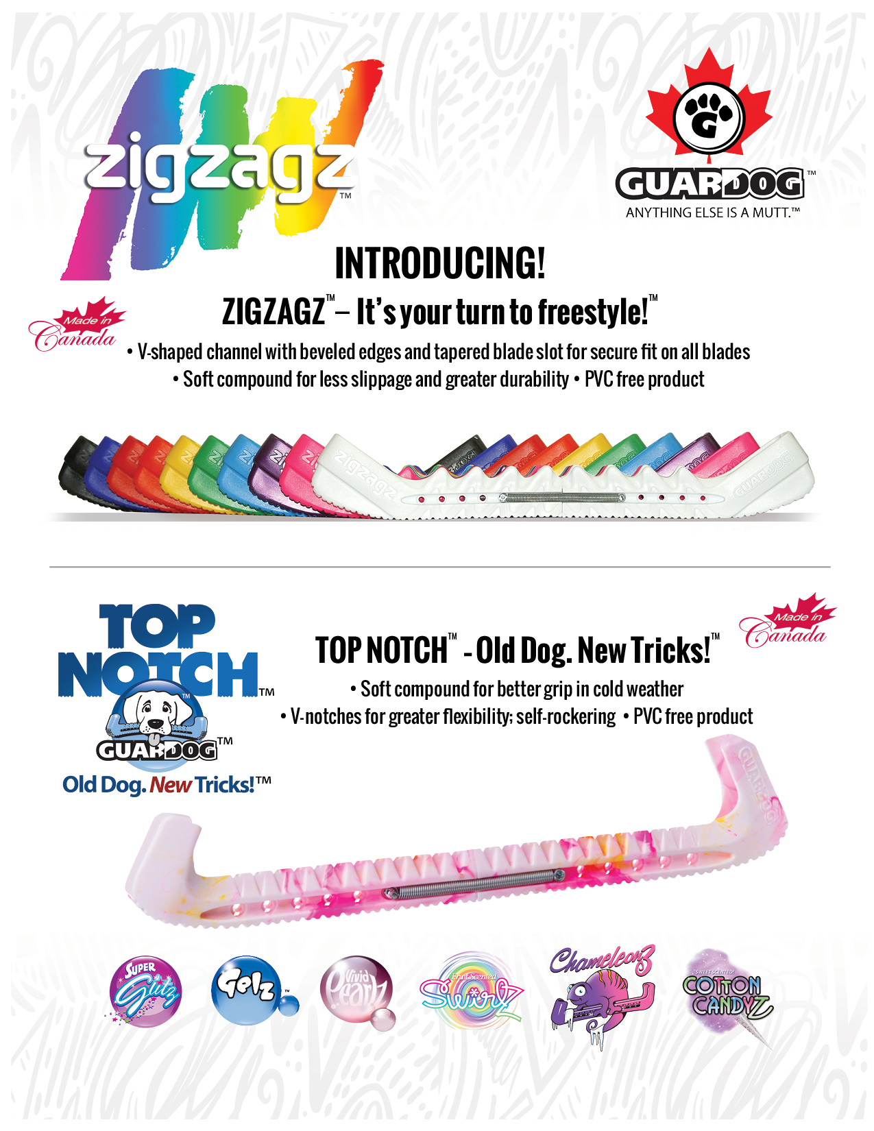 Guardog Zig Zag and Top Notch skate guards