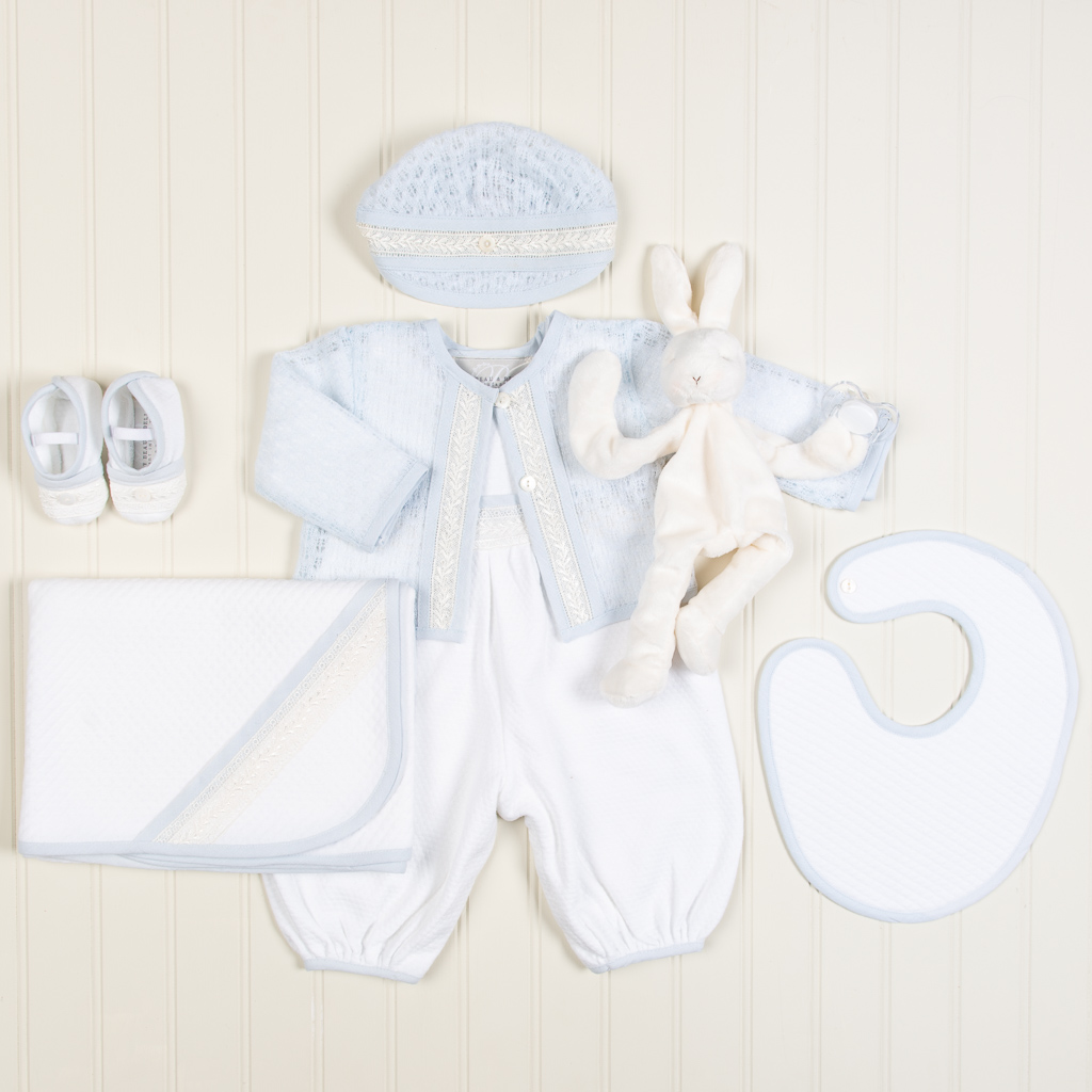 Harrison Boys Christening Jumpsuit