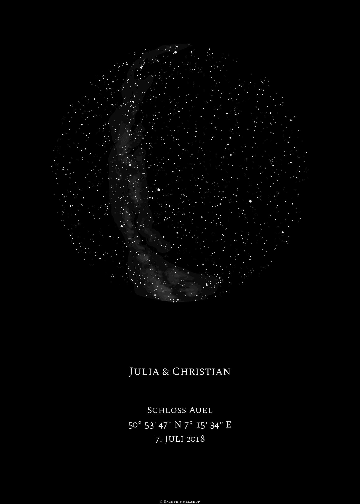 sternenhimmel poster datum