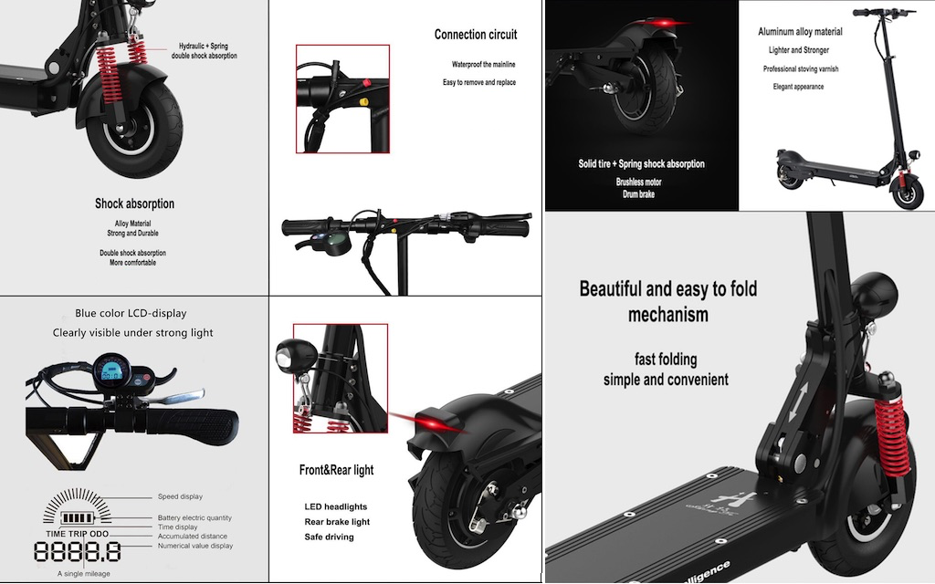 Long range electric scooter for adults