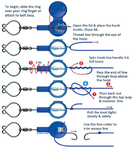 How to tie an improved clinch knot with hookeze