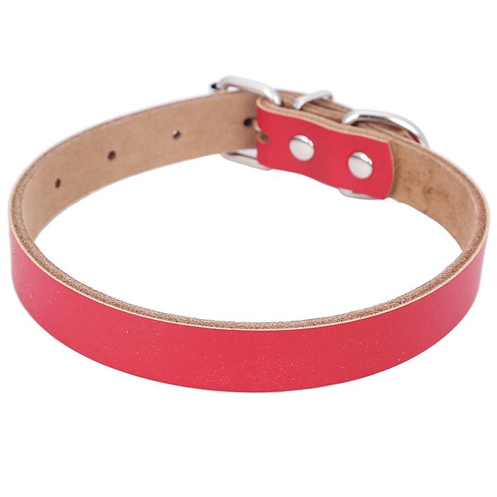 solidcolorgenuineleatherdogcollar
