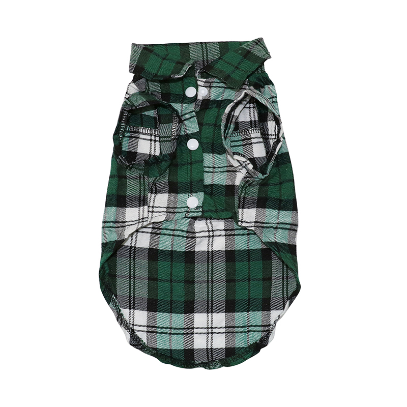 plaidbuttondowndogshirt