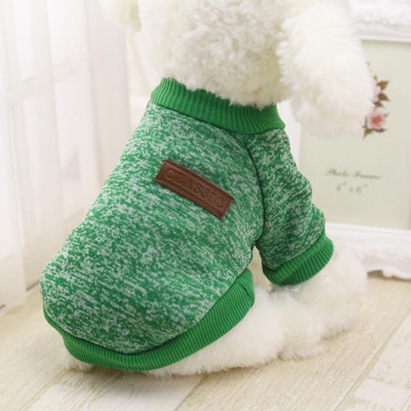 greenclassicdogsweater