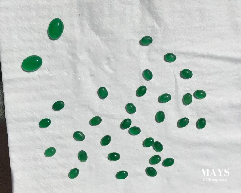 A small parcel of imitation jade