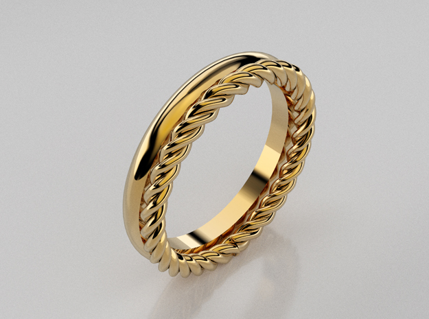 3D designed rope stackable rings