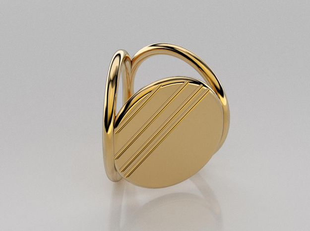 3D designed striped scarf ring