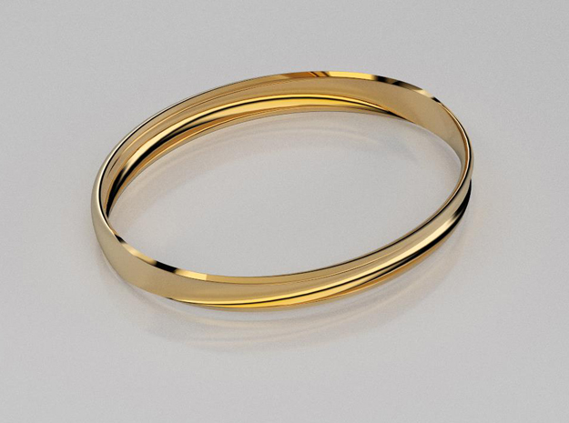 3D designed curved surface bangle