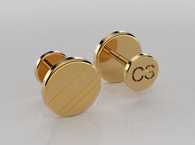 3D designed personalized cufflinks