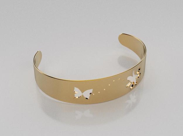 3D designed butterfly fly away bracelet