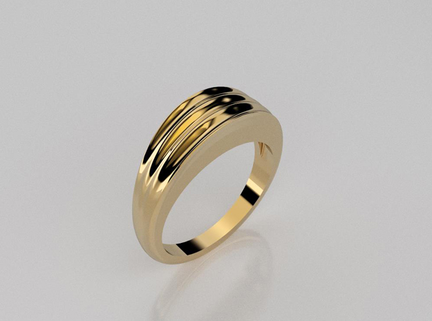 3D designed striped band ring