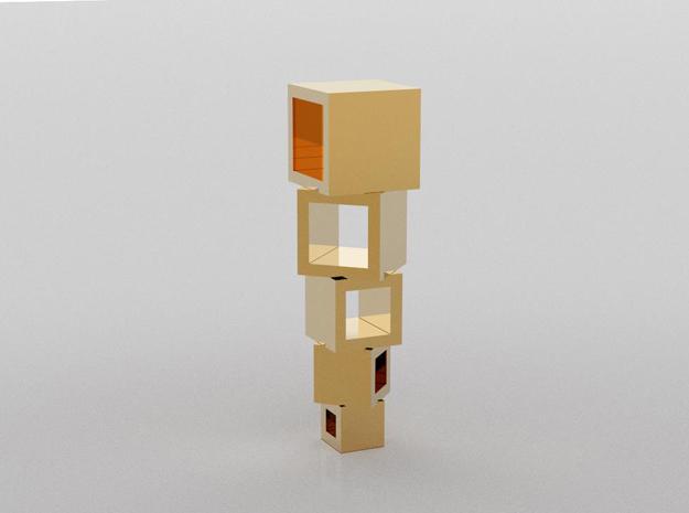 3D designed square balance pendant