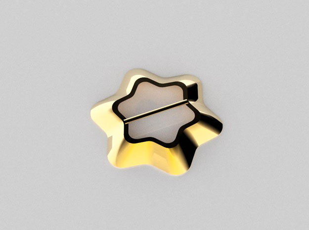 Flower shaped scarf ring