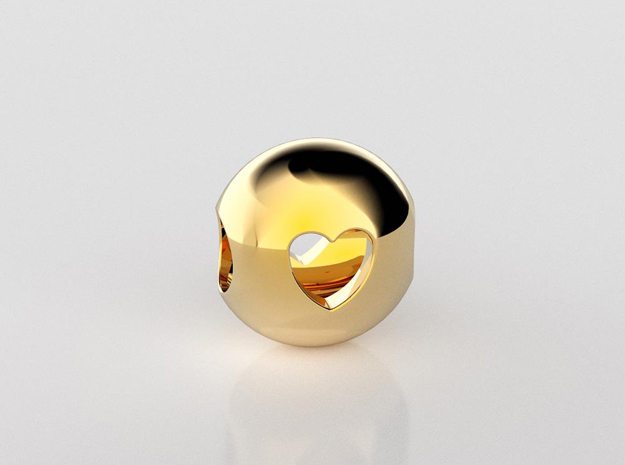 Heart ball bead pendant