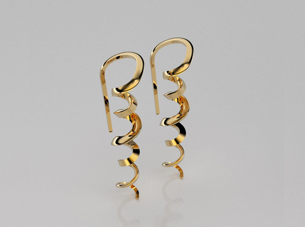 3D designed resort earrings