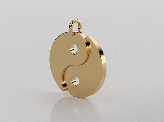 3D designed ying yang pendant