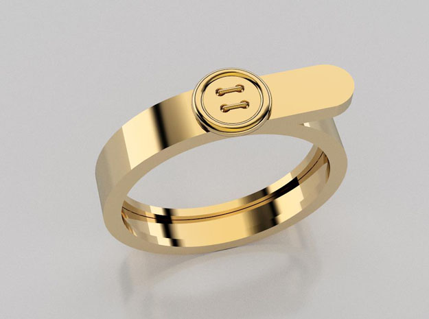 3D designed button ring