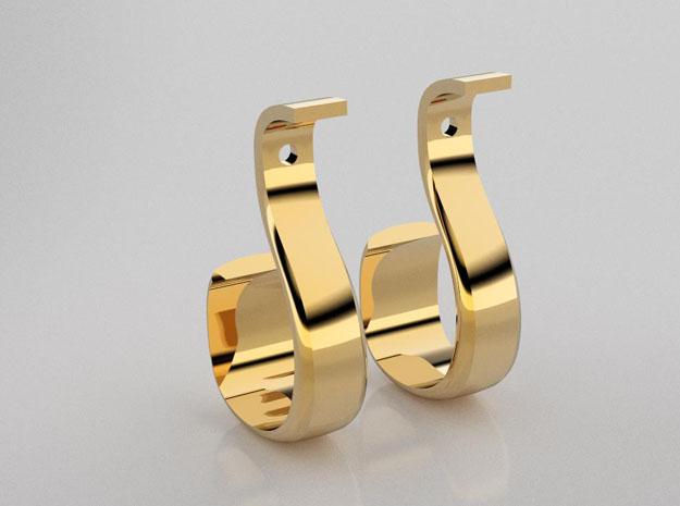 3D designed loop earrings enhancers