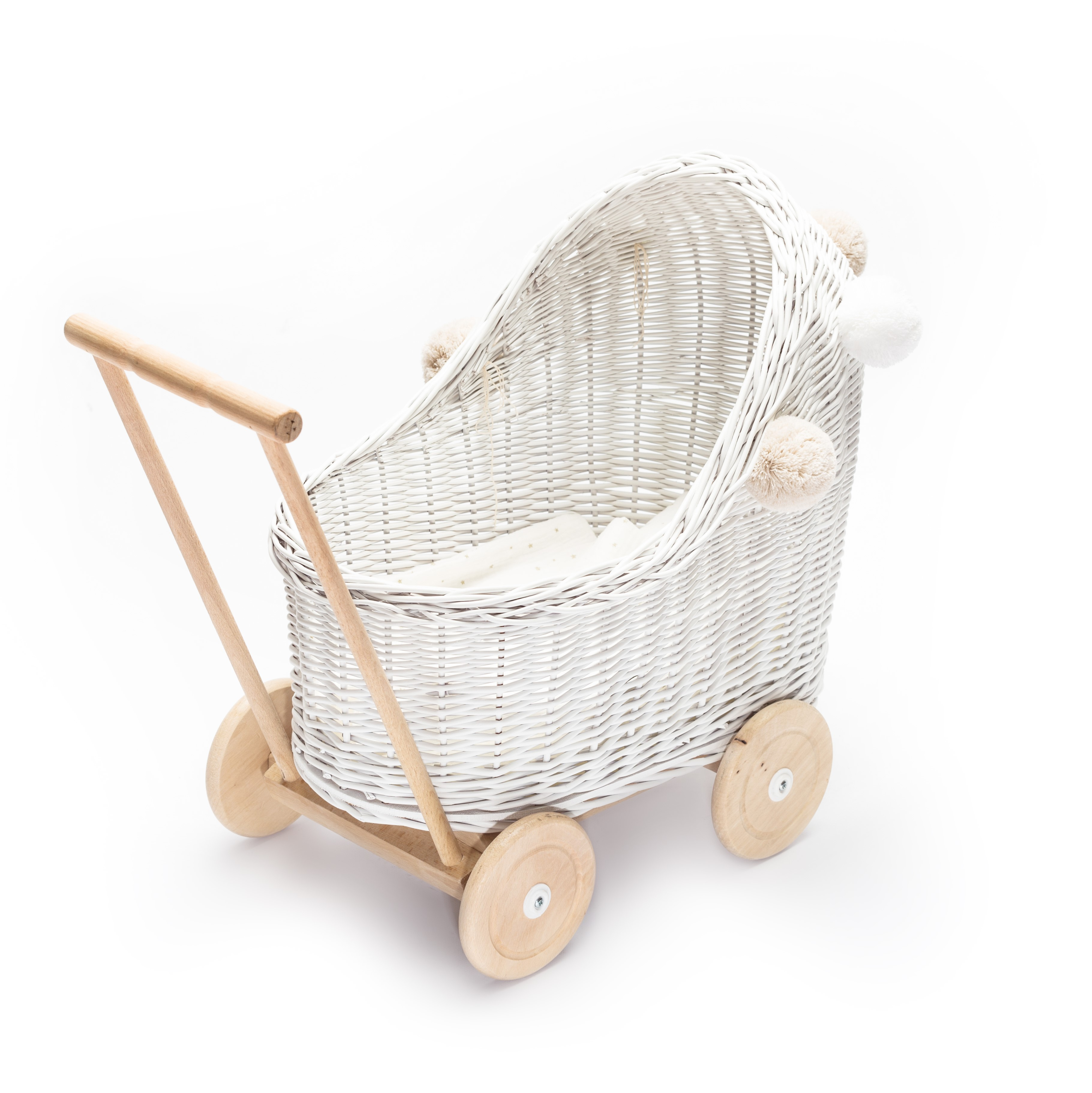 Lilu wicker doll pram