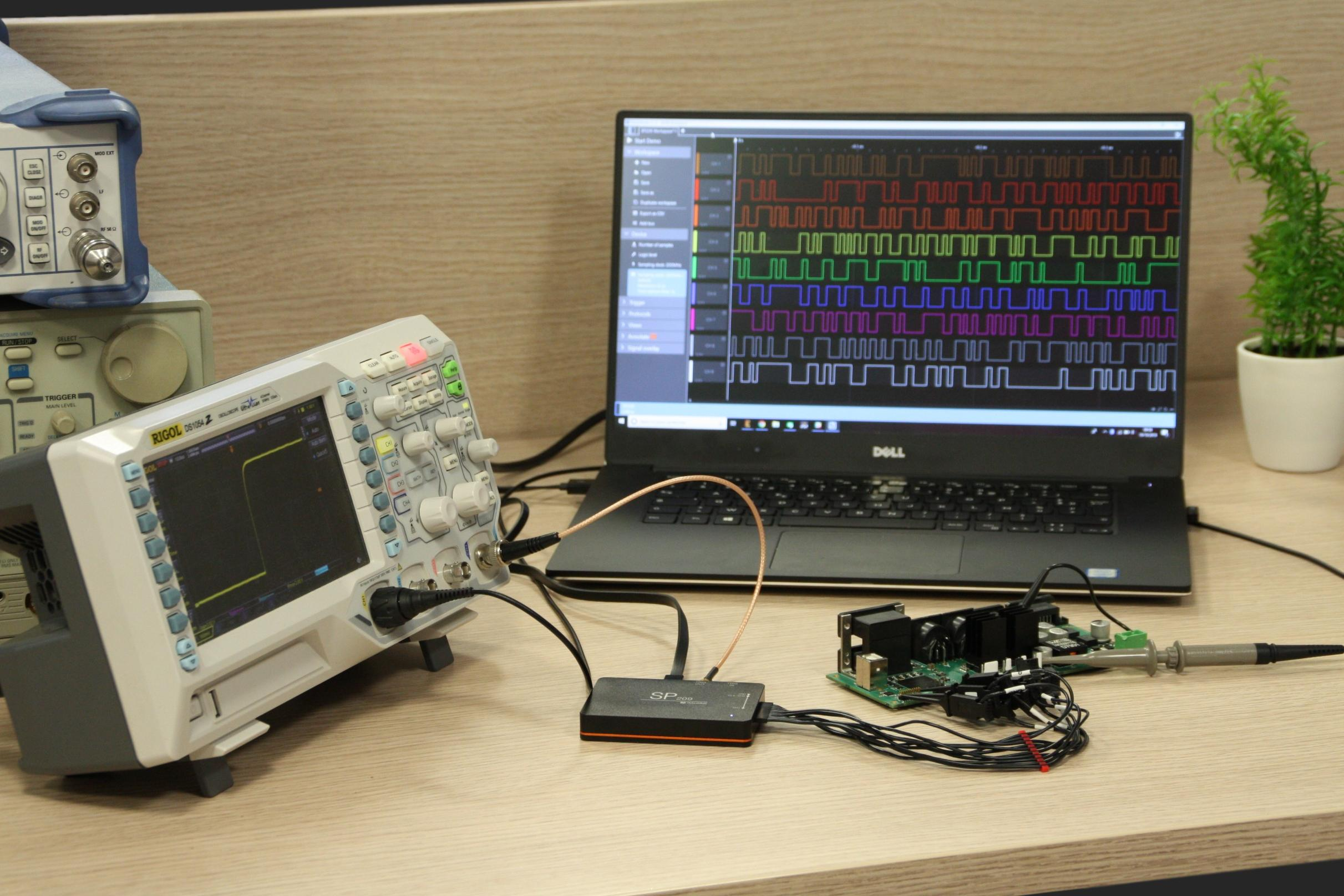 Example application of SP209 logic analyzer