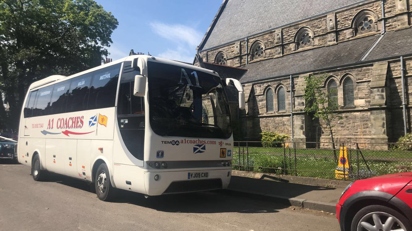 35 Seat Coach on Wedding in St Andrews