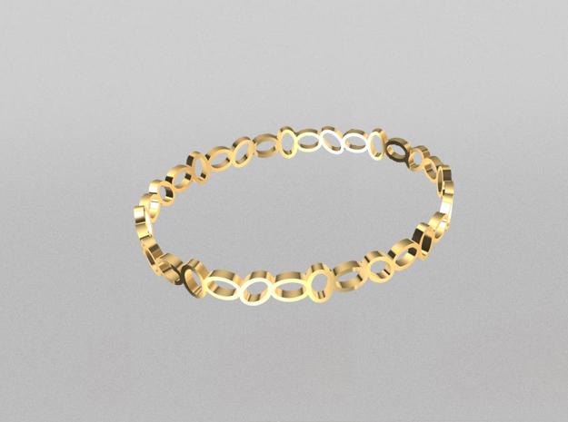 3D designed crown bangle